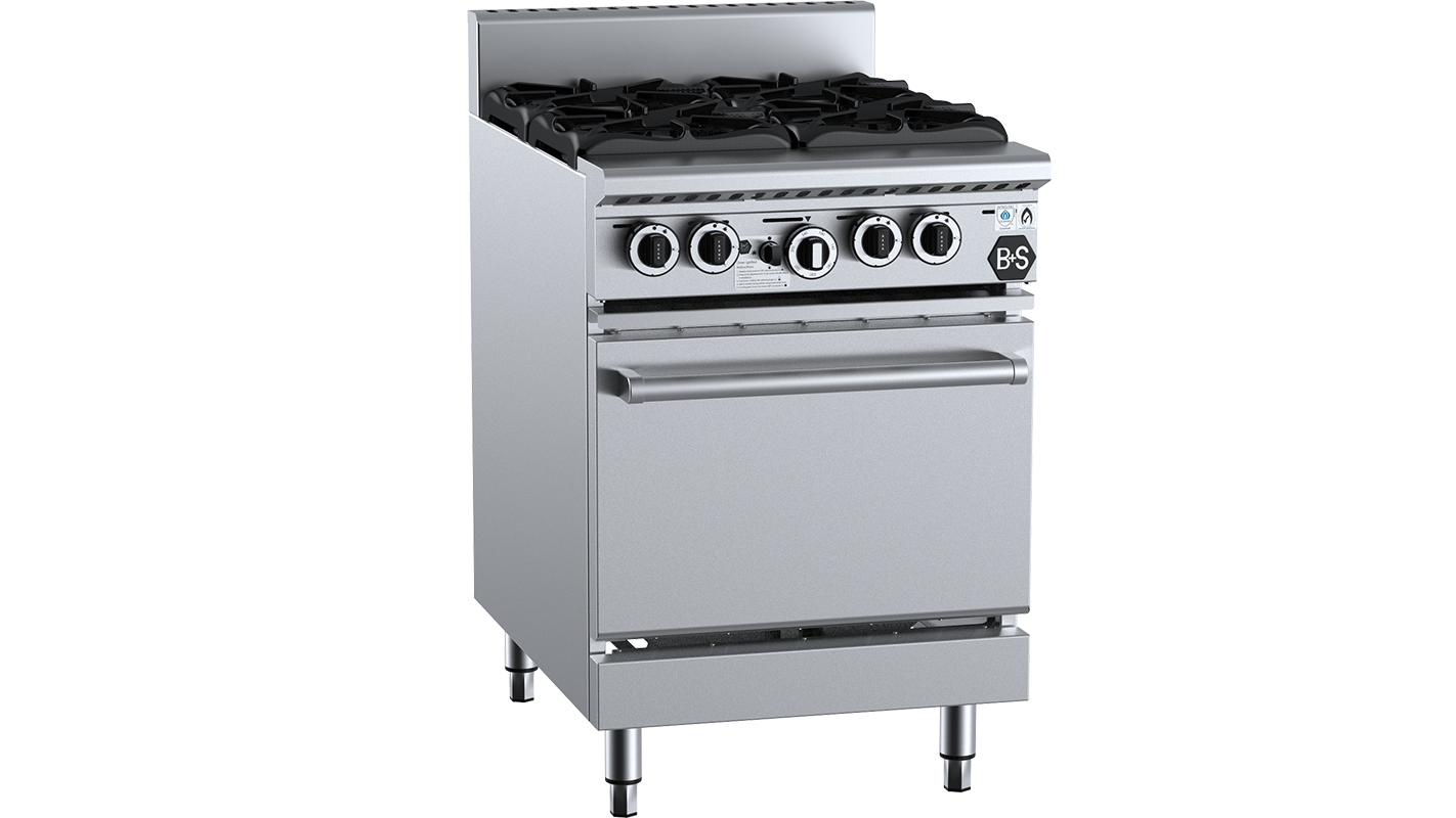 B+S Black commercial oven