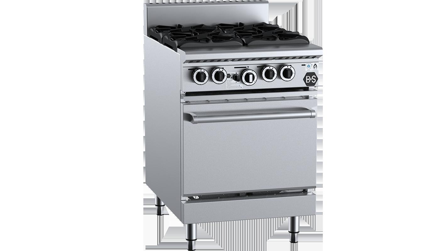 B+S Black commercial oven