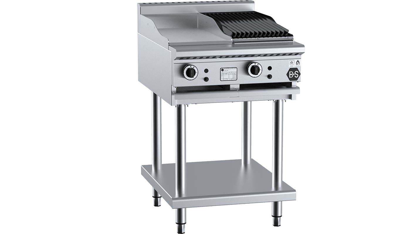 Professional combination cooktop