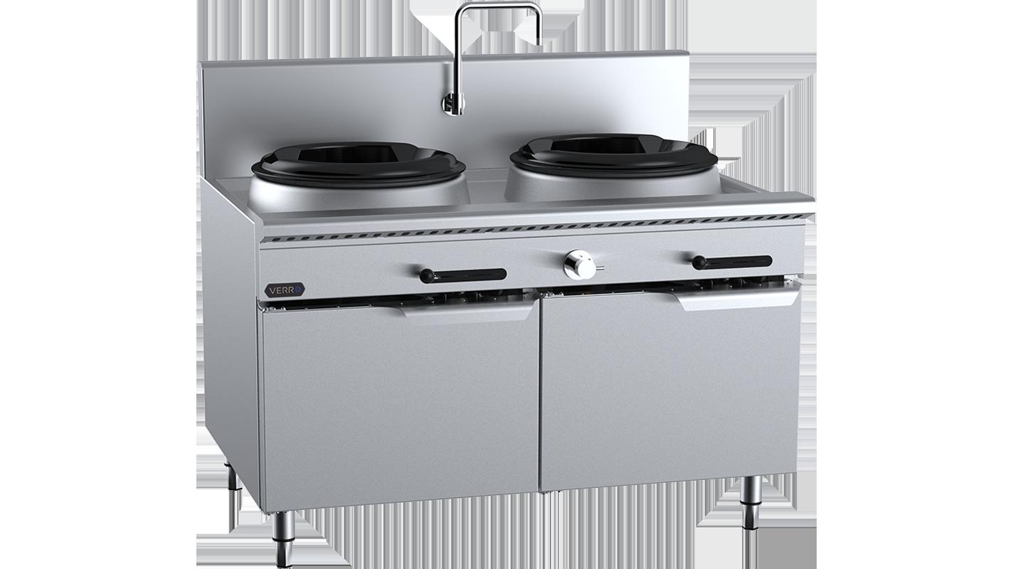 verro two-hole waterless wok table