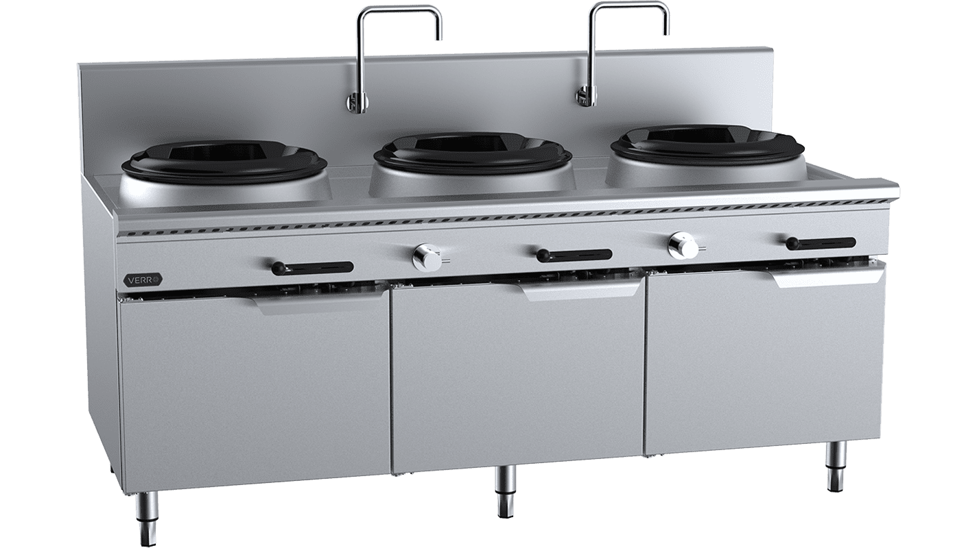 waterless wok table cabinet mounted