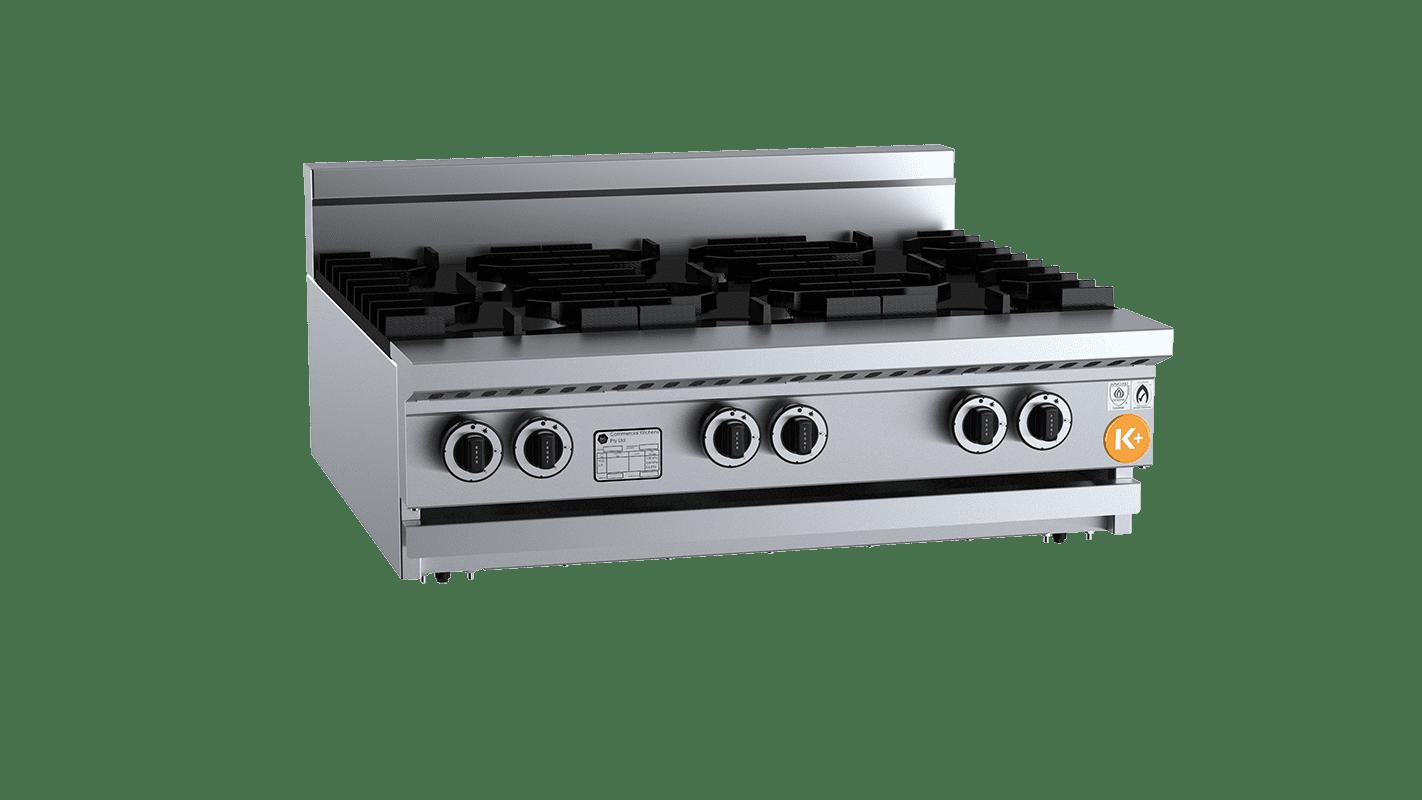 six burner cooktop