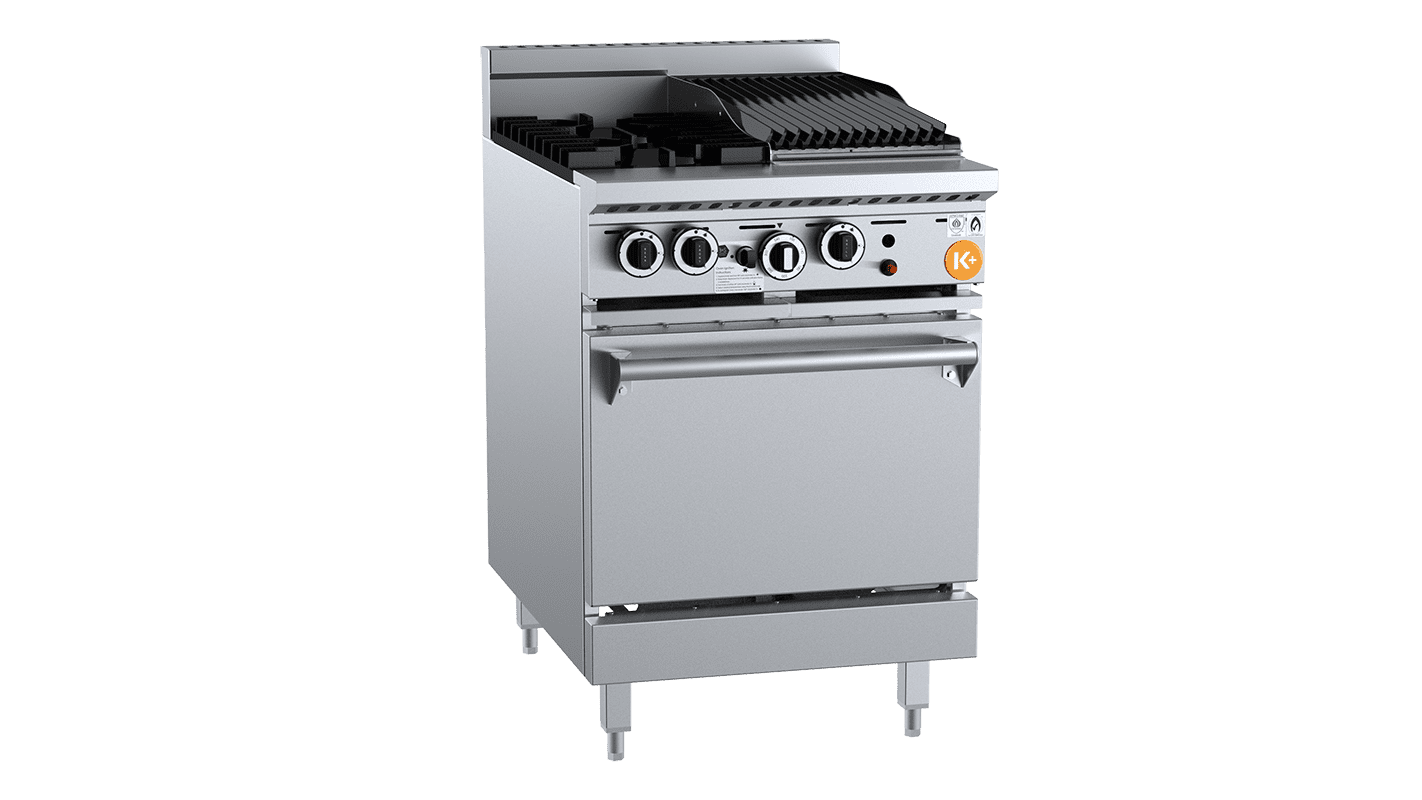 small combination top burner and grill