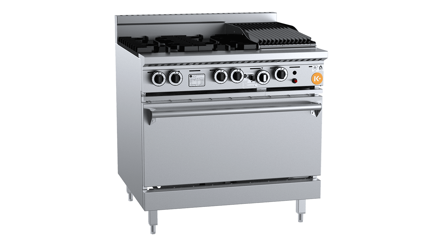 K+ combination top burner grill