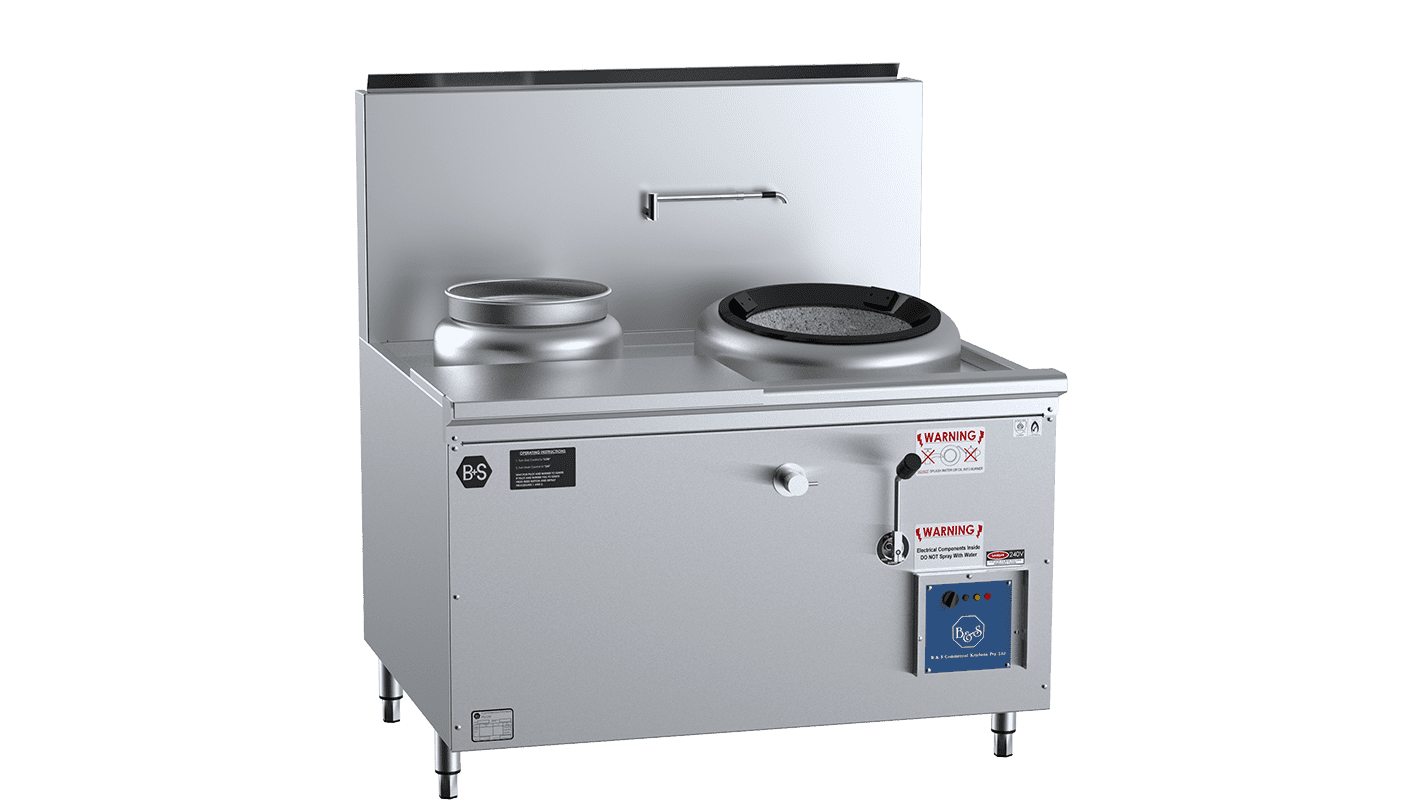 Single Hole Hi Pac Wok With Left Rear Pot and Side Prep Table