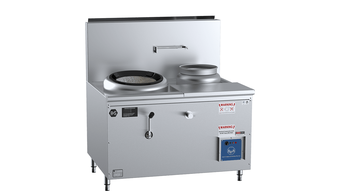 Single Hole Hi Pac Wok With Right Rear Pot and Side Prep Table